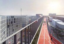 pista de alergare pe acoperis